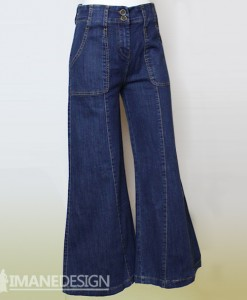 Jeans-Trouwsers-wijde broek-watermerk