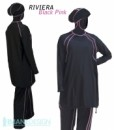 RIVIERA_Islamic_Swimsuit_Black_Pink_Imane_Design_Burkini_burkini_imanedesign_muslim