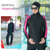 SPORTIVA_burkini_Imane_Design_Magenta_Black