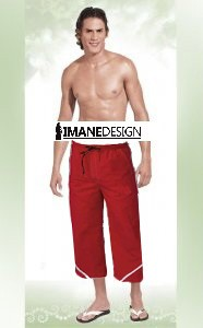 Imane Design Mens Long Swimshorts 9410 redLogo